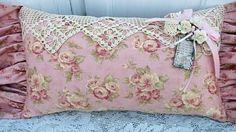 Romantic cottage pillow