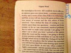 Das berühmte Zitat im berühmten Buch: A Room of One`s Own von Virginia Woolf.