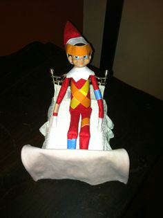 Marvin the 'spy' elf took a tumble and had to visit the elf hospital.