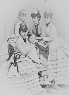 Louise of Hesse (Luise Wilhelmine Friederike Caroline Auguste Julie von Hessen-Kassel) (7.9.1817|29.9.1898) Queen of Denmark as the wife of King Christian IX of Denmark with her children: Maria Feodorovna, christened Dagmar, Empress of Russia as spouse of Emperor Alexander III of Russia. Alexandra of Denmark, Princess of Wales as wife of Edward Prince of Wales. Princess Thyra, wife of Ernest Augustus, exiled heir to the Kingdom of Hanover; + Prince Valdemar of Denmark in 1871.