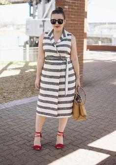 AJ Wears :: A Stripe Wrap Dress — aj wears clothes