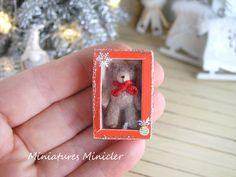 2017. Miniature Christmas Teddy Bear ♡ ♡ By Minicler