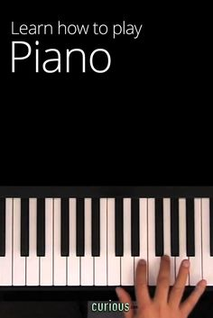 Learn How to Play the Piano. visual and audible learning at it's best.