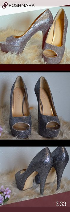 JODI BY MARC FISHER SILVER SEQUIN  FLATS - DRESSY OR CASUAL SHOES! SIZE 8.5 NWT