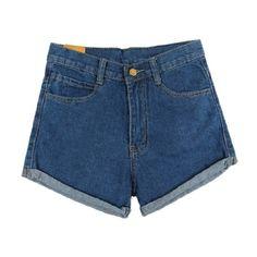 Honey Denim shorts (320 DKK) ❤ liked on Polyvore
