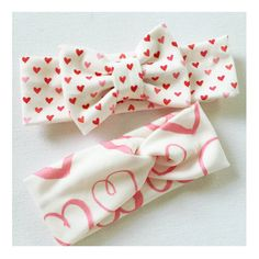 RTS Valentines day headband babies to adults top by TopKnotBands
