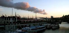 Sommer in Hamburg über den Landungsbrücken