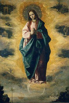 "sherripage: "" Francisco de Zurbarán, Immaculate Conception, 1630 """