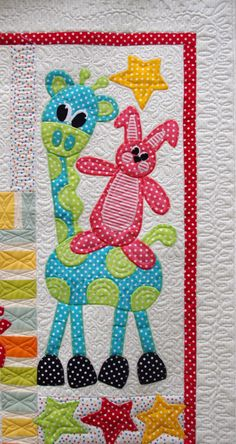 Toy Time Circus Quilt - detail