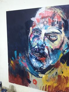 """""""Brujo I"""" Mixed media on canvas 160 x 130 cm 2015"""