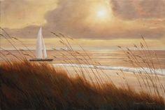 Beach Grass Sunset by Diane Romanello - Canvas Print at DianeRomanello.com