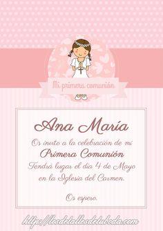 Blog de los detalles de tu boda | Invitaciones de comunión para descargar gratis | http://losdetallesdetuboda.com/blog/invitaciones-de-comunion-para-descargar-gratis/