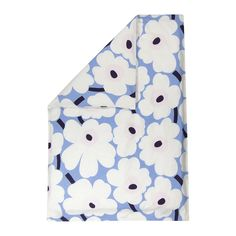 Enliven your sleep space with this Unikko duvet cover from Marimekko. Adorned with Marimekko's signature floral print in dreamy blues, pinks and white, this duvet cover is sure to brighten up any bedr Marimekko, Chinchilla, Duvet Day, Shades Of Light Blue, Poppy Pattern, White Plum, Double Duvet Covers, Linen Duvet