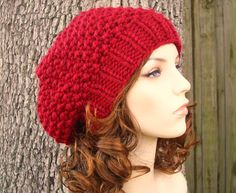 10 Off  Hand Knit Hat Womens Hat  Seed Beret Hat in by pixiebell, $45.00
