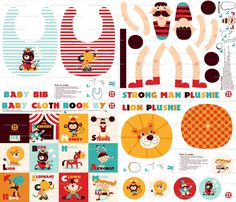Spoonflower's latest contest is for cloth baby books. I love this week's winner, the adorable To the Circus! This would be a great gift for the tots in you