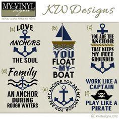 DIGITAL DOWNLOAD ... nautical vectors in AI, EPS, GSD, & SVG formats @ My Vinyl Designer #myvinyldesigner #kwdesigns