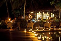 Vomo Fijian Resort, Poolside Dining.