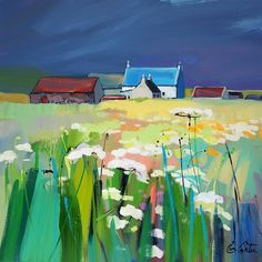Buy Prints & Paintings by the Leading Contemporary Scottish Landscape Painter Easy Landscape Paintings, Abstract Landscape, Artwork Images, Paintings I Love, Online Painting, Henri Matisse, Buy Prints, Love Art, Painting Inspiration