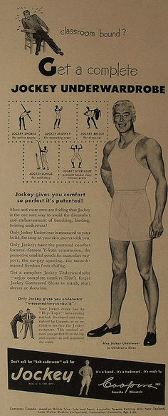 1950s Jockey Boxer Briefs Midway Men s Underwear Vintage Advertisement  Illustration Y Front 4 by Christian Montone db72ed8269ccd
