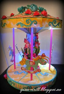 Amazing paper carousel with LED lights, made by Gunn-Eirill