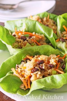 Quinoa Lettuce Wraps  These are really great.  Took them to a ladies brunch and they were well received.