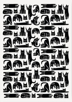 YOGA CAT   Yoga Cat stretches, squeezes, morphs and transforms. Lazy cat by day and shape-shifting dark knight by night!    Theme - PATTERNS   Artist - KRUTTIKA SUSARLA    A5 / A4 / A3 / A2    #ThisIsMyArt  #ArtOfOurTimes  ● Own it & #SupportTheArtist ●