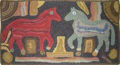 Image - Magdalena's Double Horses (31 x 48) by Mary Lynn Naples