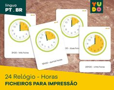Atividades . Português . Inspiração Montessori . Relógio . | Etsy Card Workout, Do Exercise, Picture Cards, Physics, Acting, 1, Activities, Education, Learning