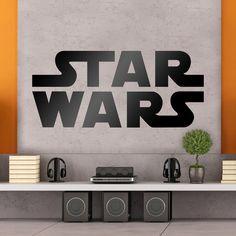 Stickers muraux: Logo courrier Star Wars. Vinyle décoratif Star Wars. #starwars #vinyle #mur #decoration #deco #WebStickersMuraux