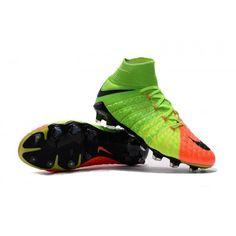 new style c6407 51d74 Botas De Futbol Nike Hypervenom Phantom III 3 DF FG Verde eléctrico Negro  Hype Naranja Online Baratas