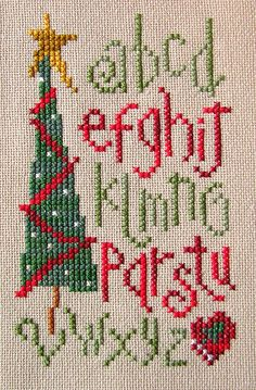 Christmas Alphabet Sampler