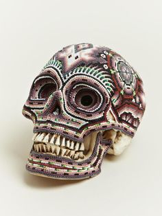 Great beaded skulls created by Our Exquisite Corpse in collaboration with the Huichol people of Mexico