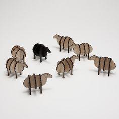 Fåreflok i birkefiner
