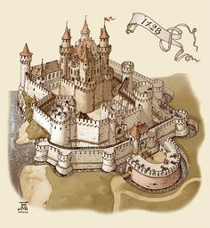 DeviantArt: More Collections Like Medieval town 3 by Fantasy City, Fantasy Castle, Fantasy Map, Medieval Fantasy, Fantasy World, Chateau Medieval, Medieval Castle, Casas Game Of Thrones, Castle Layout
