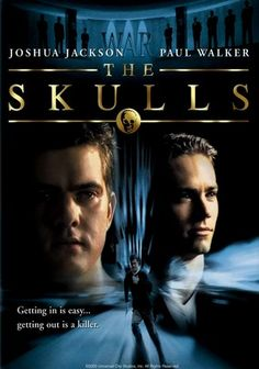 "The Skulls -Luke McNamara, a college senior from a working class background joins a secret elitist college fraternity organization called ""The Skulls"", in hope of gaining acceptance into Harvard Law. Paul Walker Movies, Rip Paul Walker, Cody Walker, See Movie, Movie Tv, Movies Showing, Movies And Tv Shows, College Movies, Bon Film"