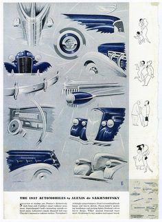 1937 Automobiles by Alexis de Sakhnoffsky, Pg. 2 by aldenjewell, via Flickr