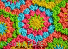 Laurel's /place: The New Grandma's Knickknacks Hex Motif Free Crochet Pattern!