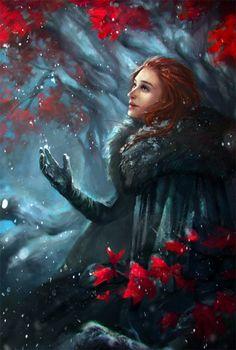 Winter is here, Sansa Stark, by Valeriya Dryzhak