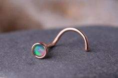 Nose Stud / Nose Ring Rose Gold Filled   OPAL  3mm  by ofersampson, $11.95