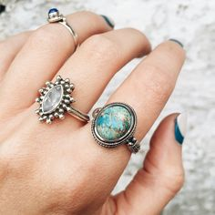 TILDA Sterling Silver Turquoise Ring