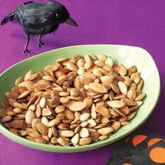 Halloween Party Recipes from ALL YOU Readers and Bloggers | Roasted Pumpkin Seeds | AllYou.com