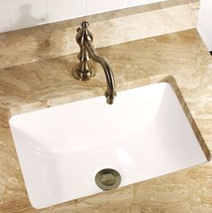 Highpoint Durable Ceramic Undermount Petite Rectangle Vanity Lavatory Sink  #lavatorysink #ceramic #undermount #fixture