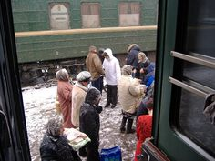 Trains on the Trans-Siberian Railway in the Ural Mountains. Russia  (Siberia)