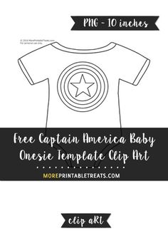 Free Captain America Baby Onesie Template - Clipart