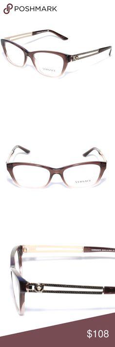 5ff4b440799 Versace Eyeglasses 3220 5165 52 16 Transparent Bro Brand new 100% authentic  Versace Eyeglasses
