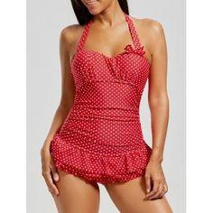 3f6f350f40 Suddenly Slim by Catalina Women's Retro Ruffled Slimming One-Piece Swimsuit