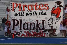 """@ Ryle """"Take em to the plank"""" Football Game Signs, Football Banner, Football Spirit, Football Cheer, School Football, School Spirit Posters, High School Posters, Cheer Posters, Cheer Coaches"""