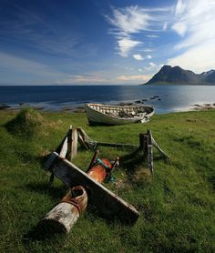 Arctic landscape near Gjögur - Northern Iceland