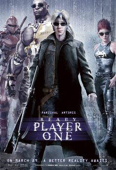 Check out this set of 12 classic movie posters recreated for Ready Player One featuring the High Five avatars Parzival, Aech, Daito, and Shoto. Marvel Movie Posters, Classic Movie Posters, Classic Movies, Marvel Movies, Science Fiction, Martin Scorsese, Cultura Pop, Stanley Kubrick, Iconic Movies