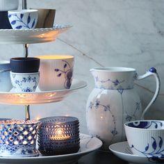 Royal Copenhagen - Mix of 'Blue Fluted' Patterns